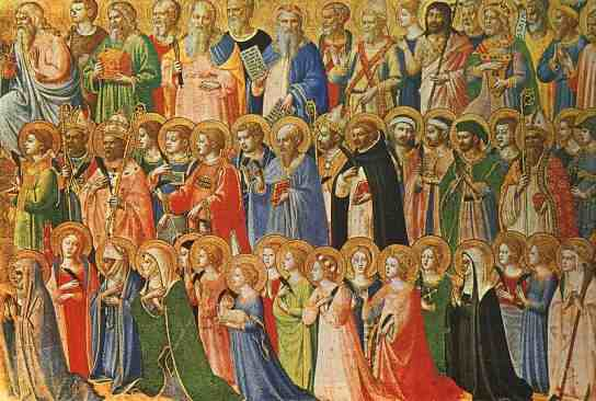 Image of All Saints in heaven